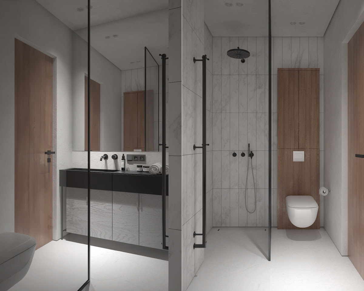 Trendy Bathroom designs Combined With Modern and Geometric ...