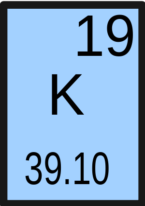 Potassium is a chemical element. It has the sy...