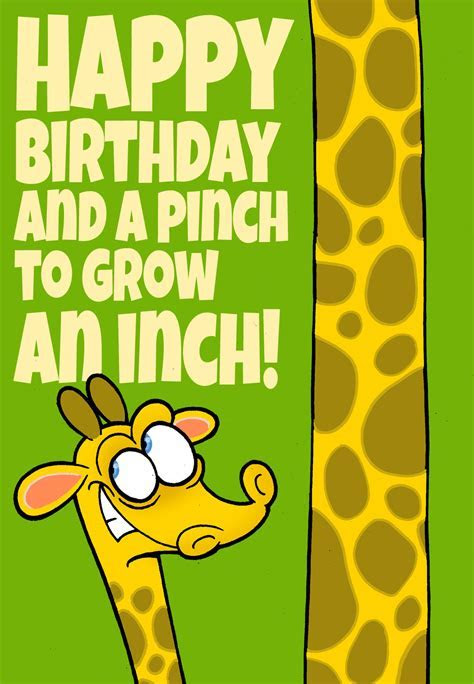 A Pinch to Grow an Inch   Free Birthday Card   Greetings