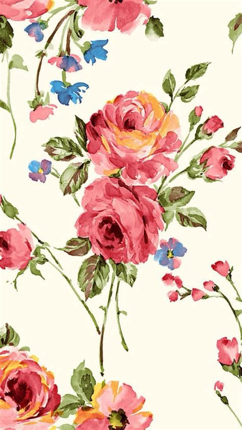 vintage painting flowers wallpaper  iphone wallpapers