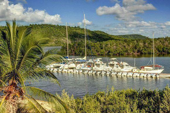 Fotografía de archivo de la marina de Boca de Samá, ubicada en el municipio de Banes, provincia de Holguín, Cuba. ACN FOTO/Juan Pablo CARRERAS