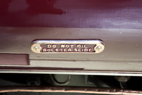 Do not oil bolster slide
