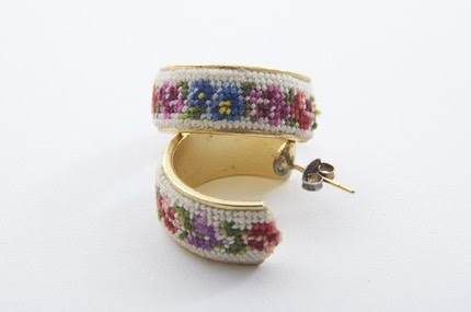 needlepoint earrings