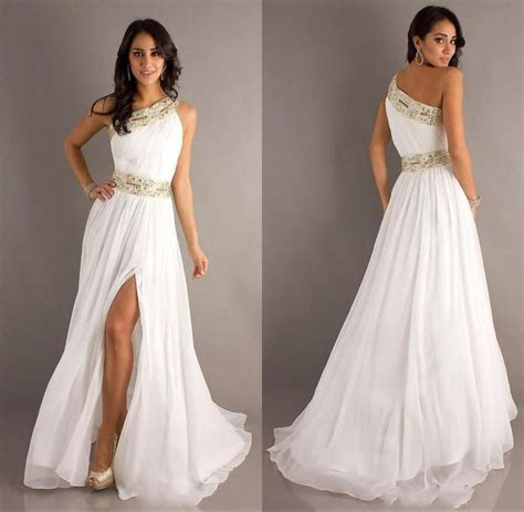 2015 New Arrival Sexy Long White Prom Party Dresses One