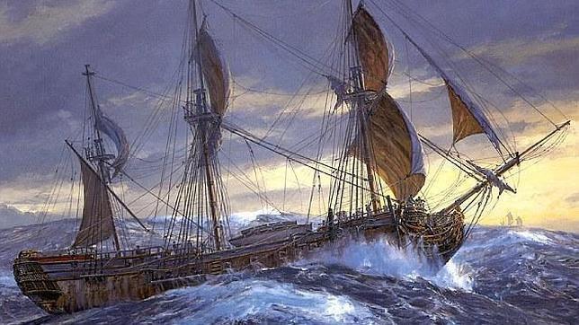 El sangriento naufragio de un barco militar del S.XVIII cuya tripulación se volvió caníbal