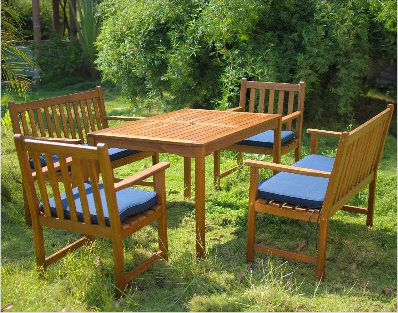 6 Seater Patio Set with Cushions - Simply Wood