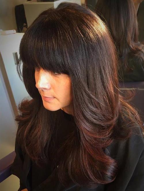 Layered Haircuts With Bangs For Long Hair 47