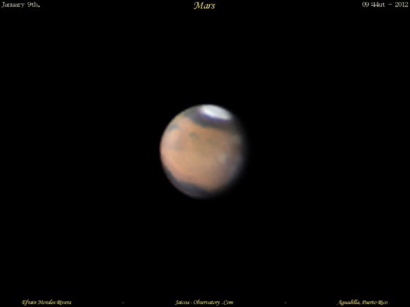 Astrophoto: Approaching Mars by Efrain Morales