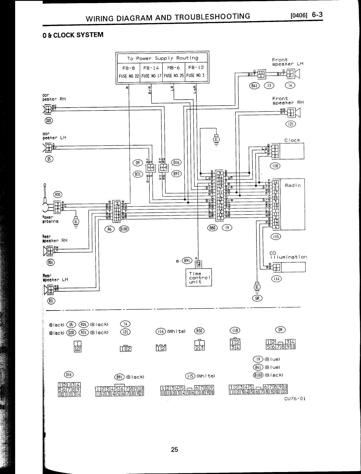 1993 Subaru Wiring Diagram