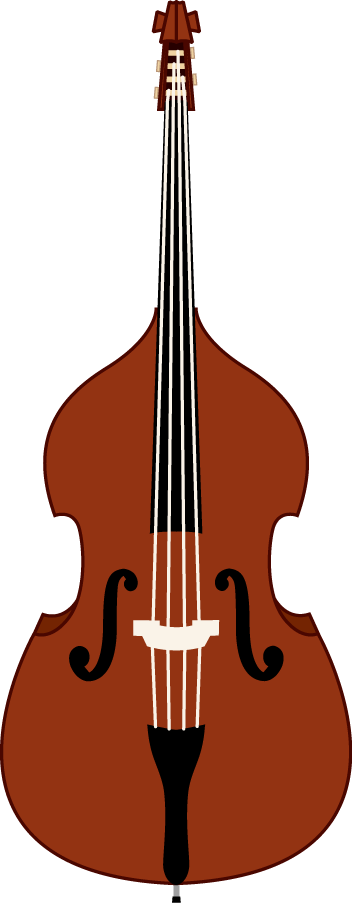 Illustrations Of Mandolin Guitar And Contrabass In The Public Domain