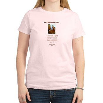Cat Philosopher Inner Peace Women's Light T-Shirt