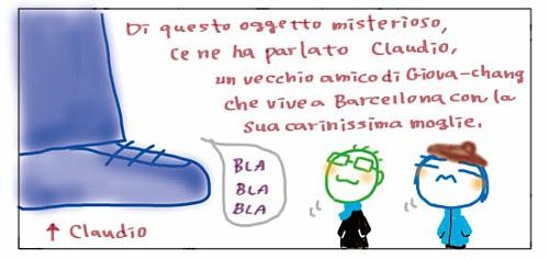 Di questo oggetto misterioso, ce ne ha parlato Claudio, un vecchio amico di Giova-chang che vive a Barcellona con la sua carinissima moglie. BLA BLA BLA Claudio