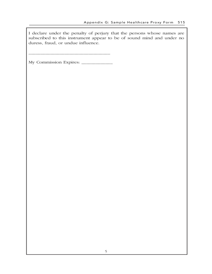 Sample Healthcare Proxy Form - Massachusetts Free Download