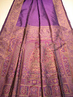 Gorgeous purple sari cloth from Sari Safari