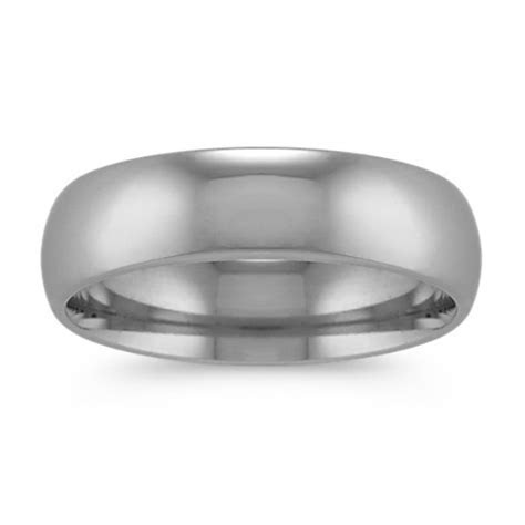 Classic Men?s Wedding Band in Platinum (6mm)   Shane Co.