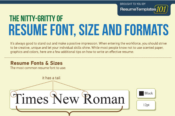 Best Fonts and Proper Font Size for Resumes  BrandonGaille.com