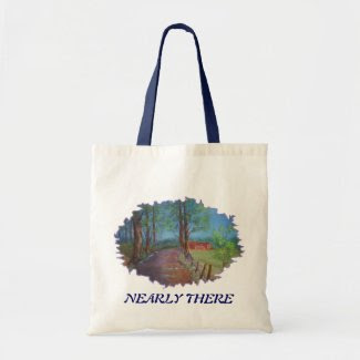 Nearly there tote bag
