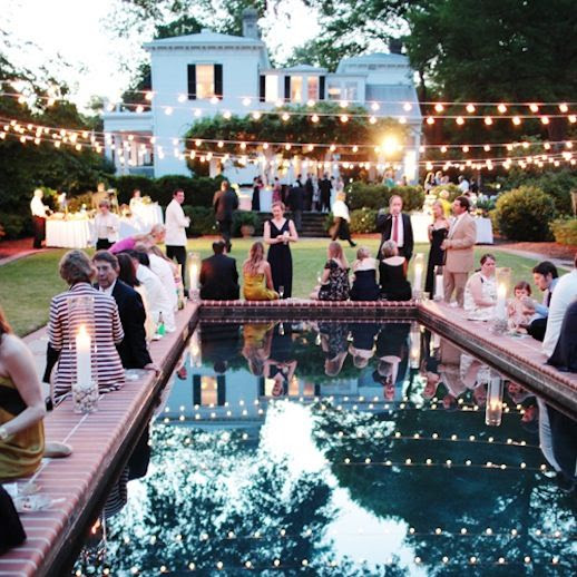 Le Fashion Blog Outdoor Backyard Wedding String Lights