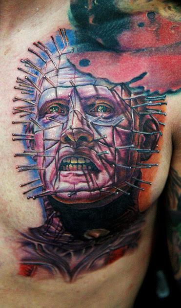 pinhead tattoo - dragonfly tattoo