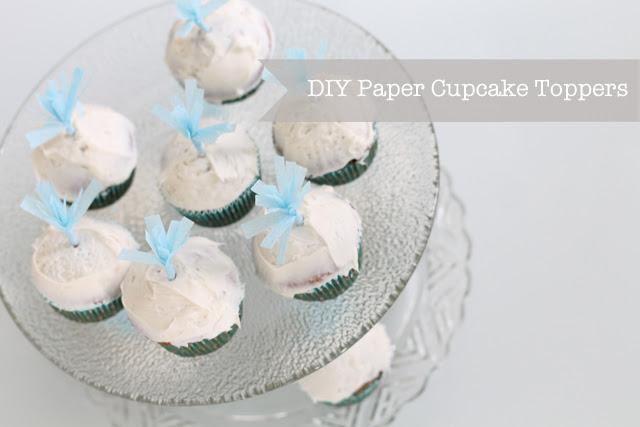 DIY Paper Cupcake Toppers