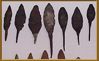 """North American Old Copper """"rattail"""" points, courtesy of copperculture.homestead.com"""