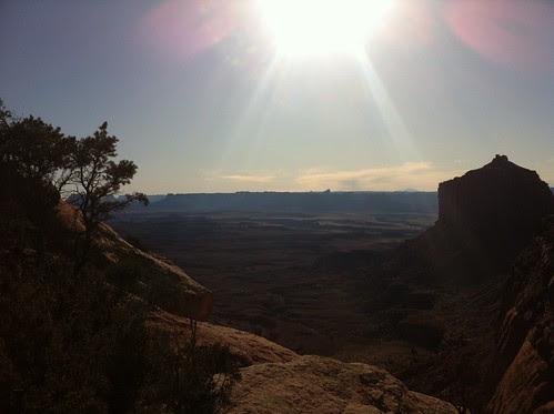 False Kiva trail sunburst