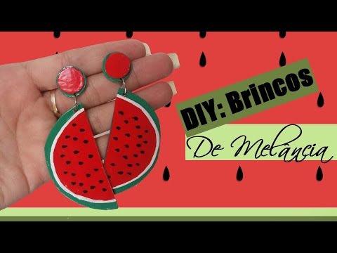 DIY Brinco Fun de Melância Feito com CD | Brinco das Gringas