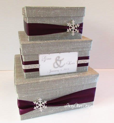 Wedding Card Box Winter Wedding Reception by