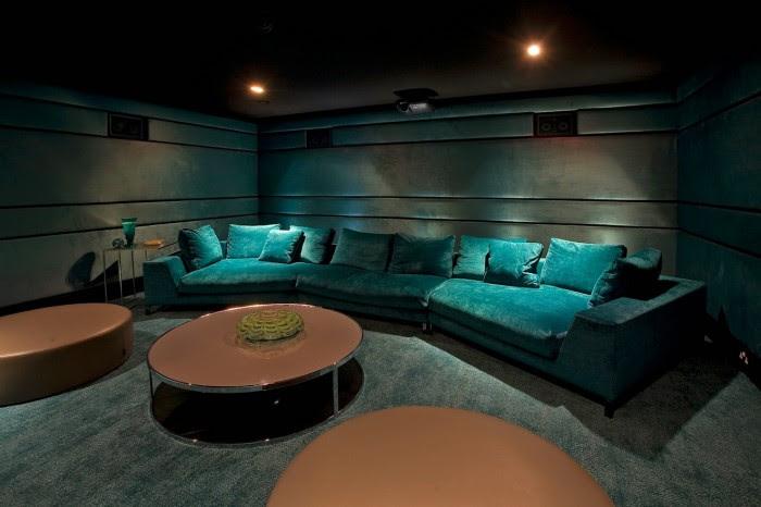 media room basement remodel 3