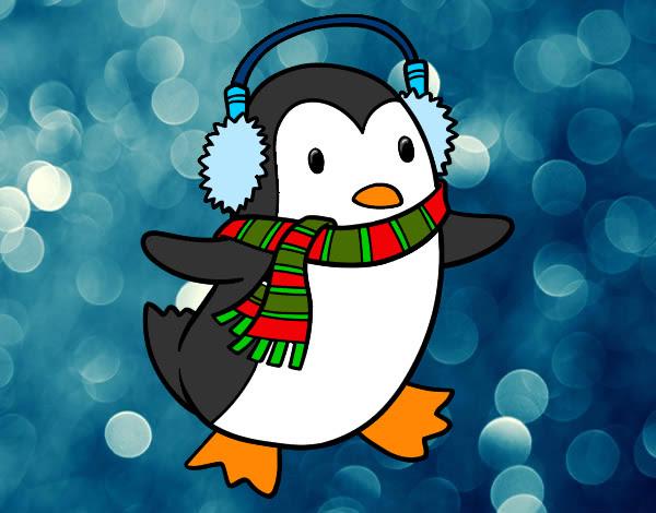 Dibujo De El Pinguino De Navidad Pintado Por Saris247 En Dibujosnet
