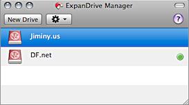 Screenshot of ExpanDrive Manager window.