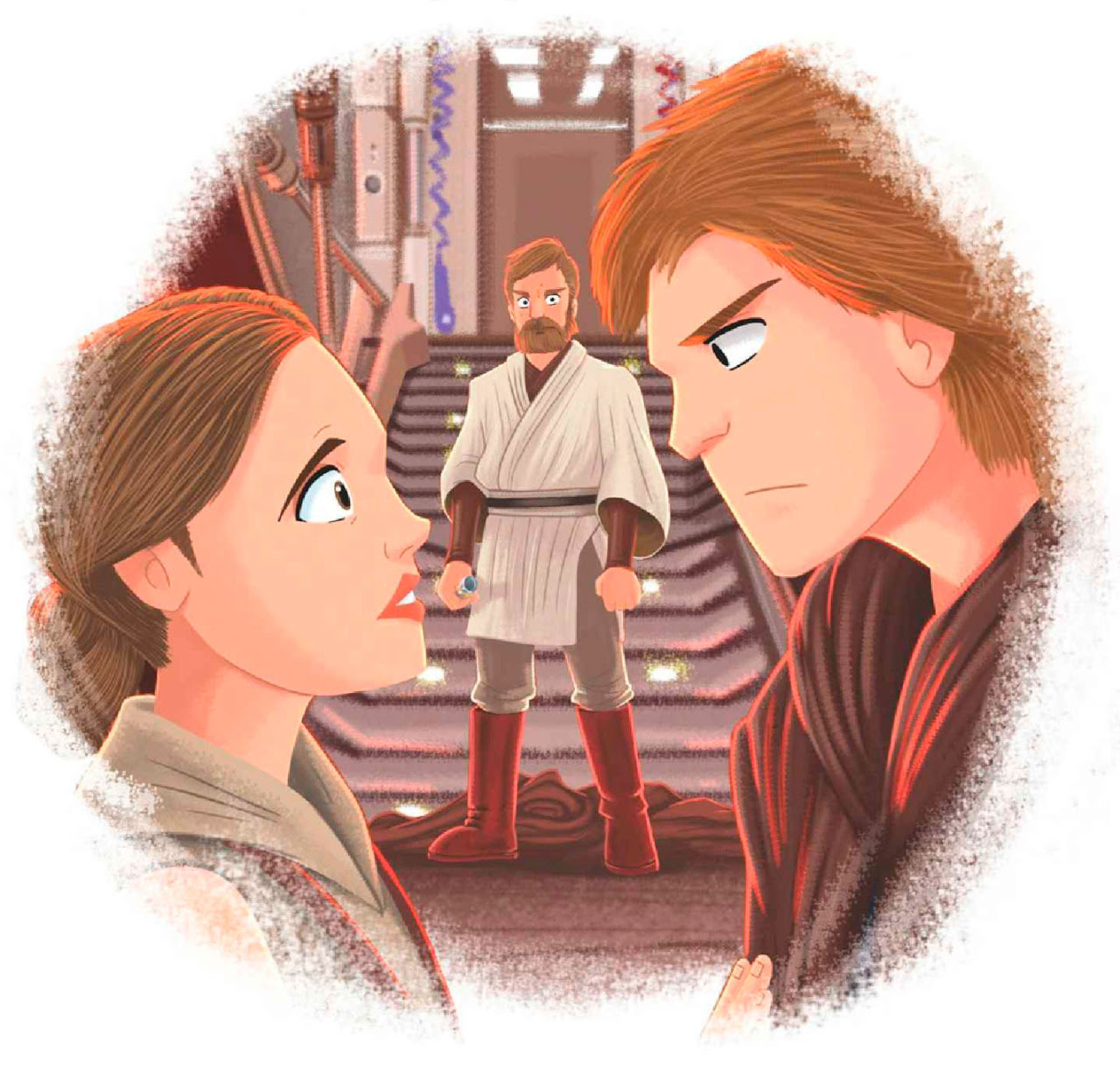 Star Wars Little Golden Books Anakin & Padme AOTC Scans | Anakin And His Angel