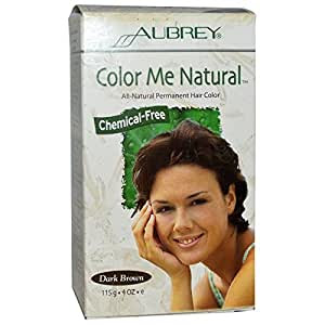 Amazon.com : Aubrey Organics, Color Me Natural, 100% Natural Permanent Hair Color, Dark Brown, 4