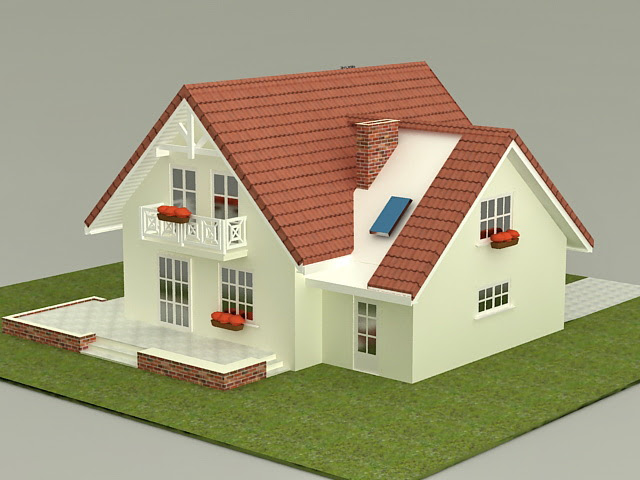 Small House Plan 3d Model 3ds Max Files Free Download Modeling