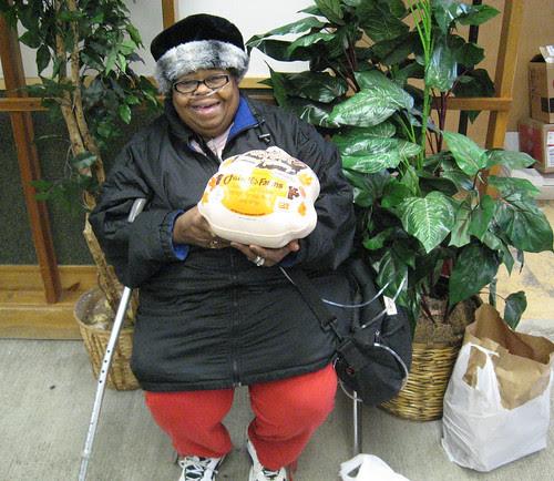 Janie Lawson receives our final turkey