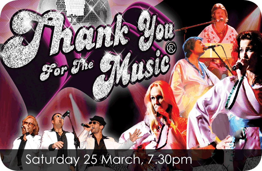 Thank You For The Music Saturday 25 March