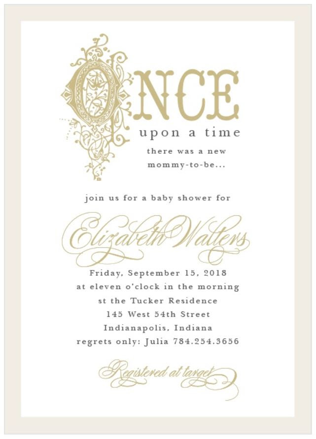 Basic Invite: Book Themed Baby Shower Invitations | Style Through Her Eyes