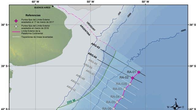 La Argentina sumó 1.633 kilómetros cuadrados a su plataforma continental