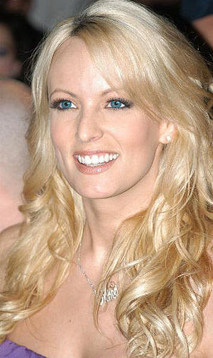 Stormy Daniels, American pornographic actress.