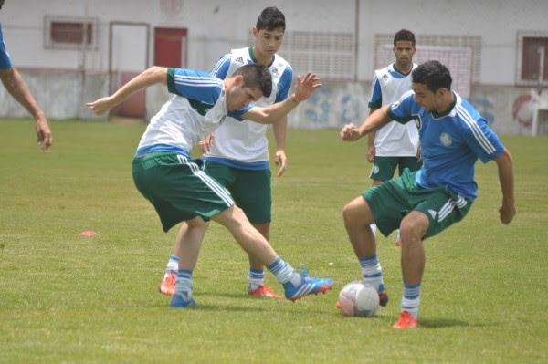 Equipe do Palmeiras treinou no campo do CT do América