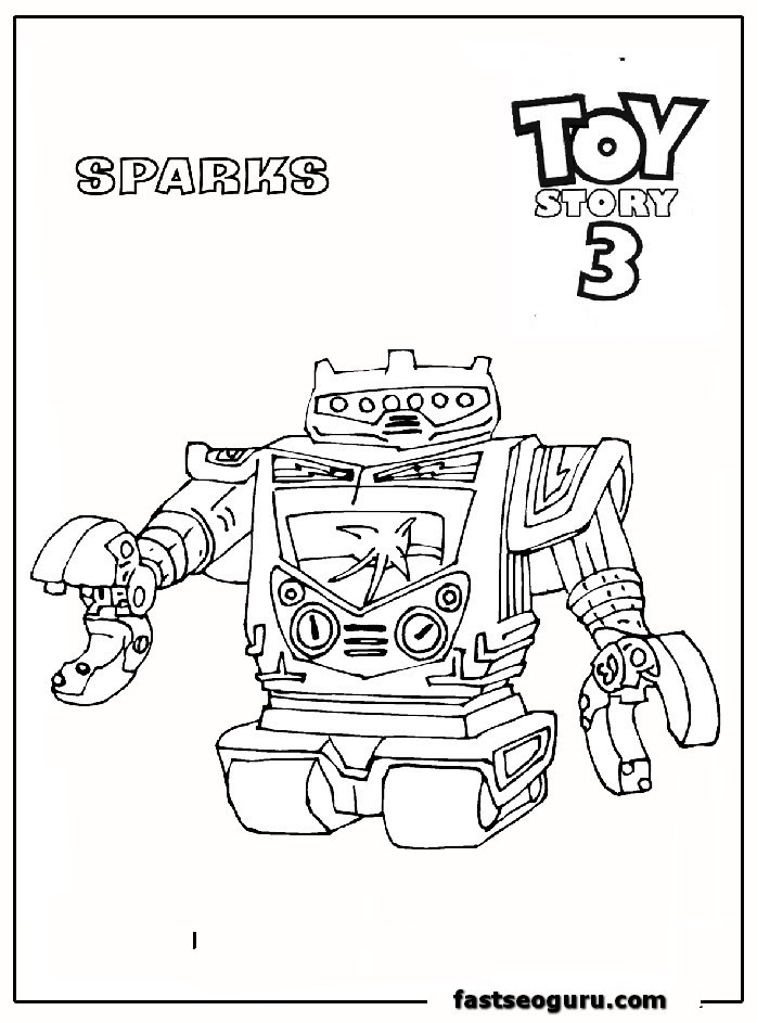 Sparks. Vulcan robot toy story 3 print out coloring pages ...