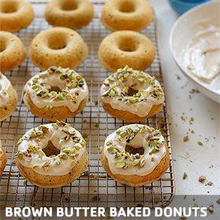 brown butter baked doughnuts