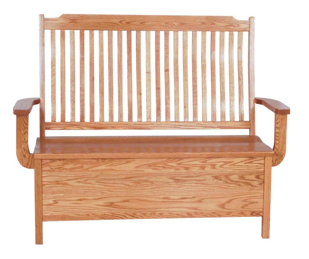 Mission Oak Benches Indoor Furniture Wooden Storage New | eBay