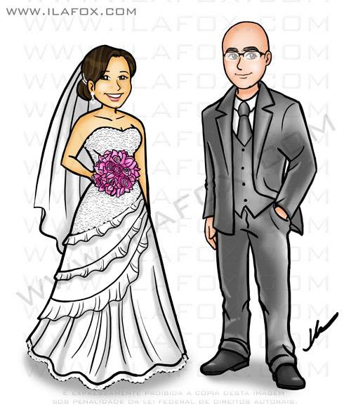 caricatura casal, caricatura desenho, caricatura para casamento, caricatura noivos, by ila fox