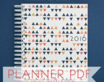 2016 Printable Planner, 2016 Diary, 2016 Daily Planner, 2016 ...