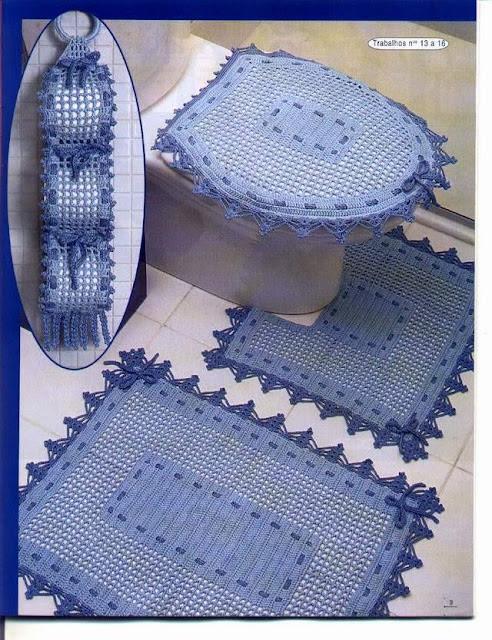 Entre Hilos y Puntadas: Juegos de baño tejidos