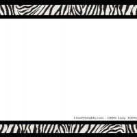 Zebra Print Scrapbook Border