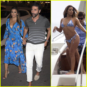 Eva Longoria & Hubby Jose Baston Enjoy Date Night in Spain