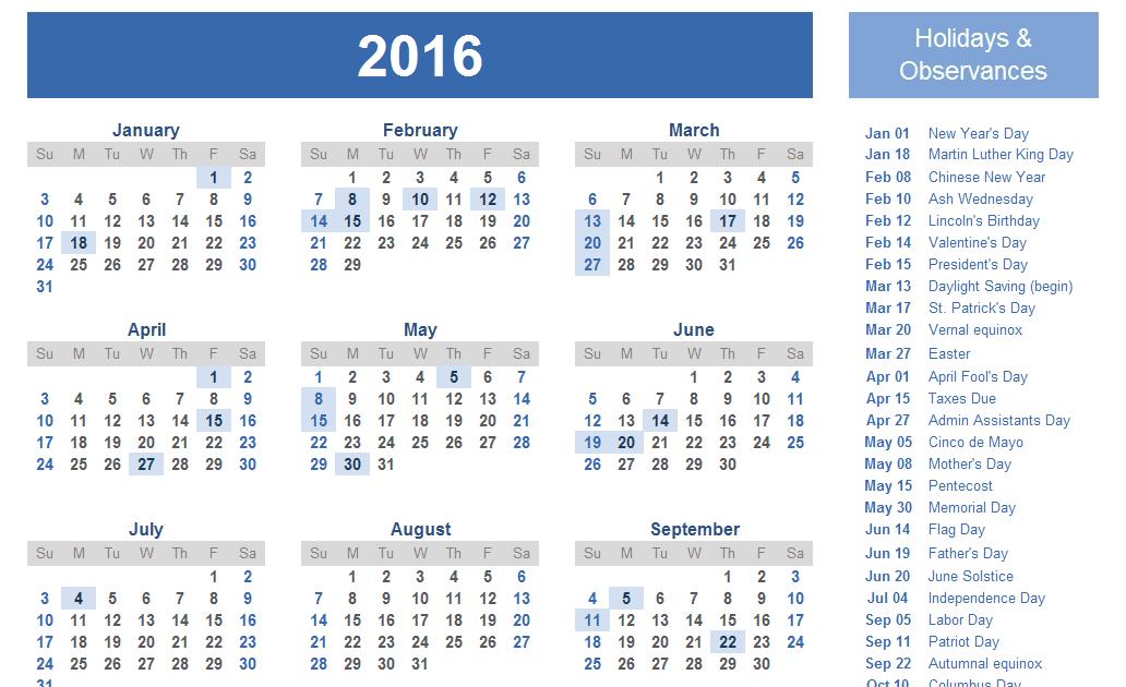 CALENDAR 2016 - Yangah Solen