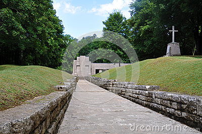 Memorial Tranchée des Baionnettes (bayonet trench) at the Verdun ...